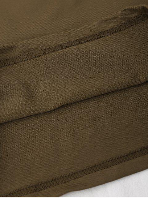 Top court en coton à épaules tombantes - Café TAILLE MOYENNE Mobile