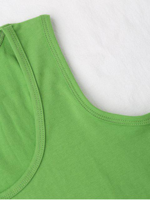 online Cotton Sports Tank Top - GREEN ONE SIZE Mobile
