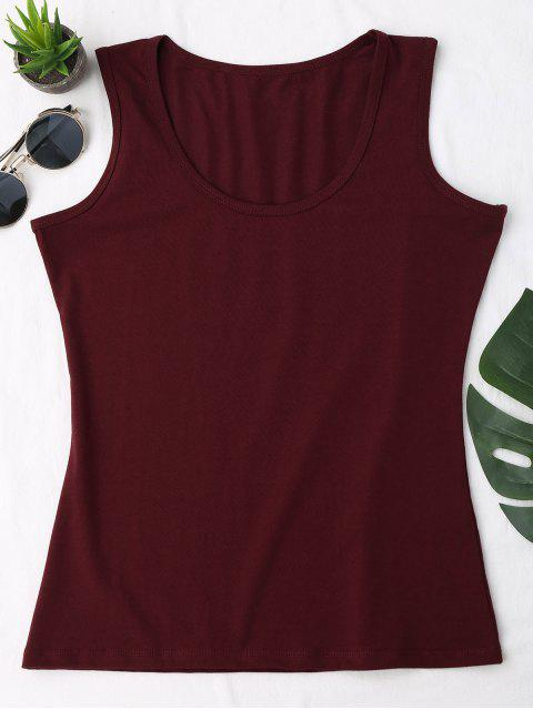 hot Cotton Sports Tank Top - WINE RED ONE SIZE Mobile