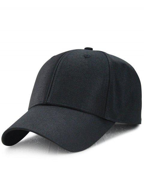 Lange Schwanz-Schimmern-Verstellbare Baseballmütze - Schwarz  Mobile