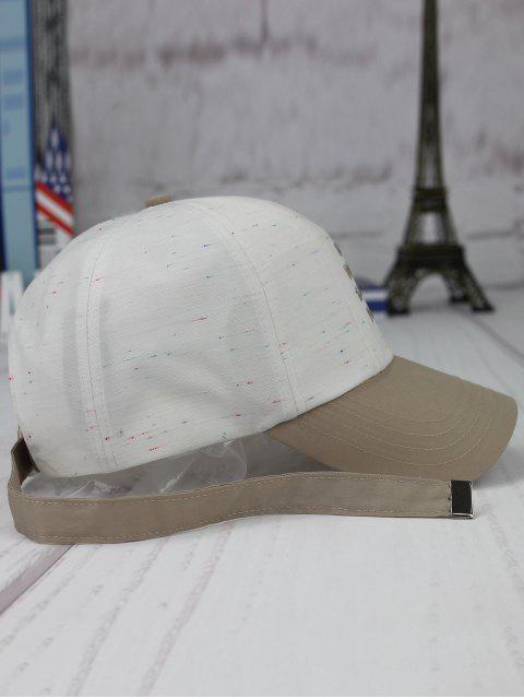 Chapeau de baseball de broderie Letters Long Tail - Blanc  Mobile