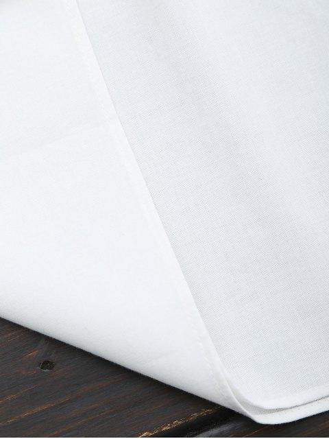 shops Ruffles Lace Panel Top - WHITE M Mobile