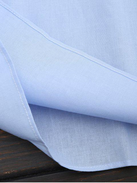 Panneau en dentelle Ruffles Top - Bleu clair L Mobile