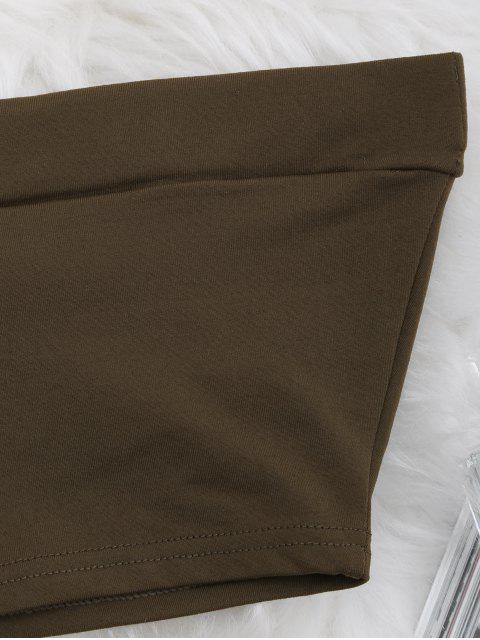 shop Elastic Cotton Tube Top - COFFEE M Mobile