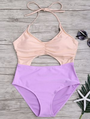 Traje De Baño De Una Pieza - Rosa+púrpura L