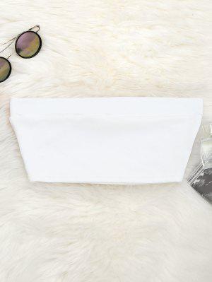 Top Bandeau En Coton Élastique - Blanc M
