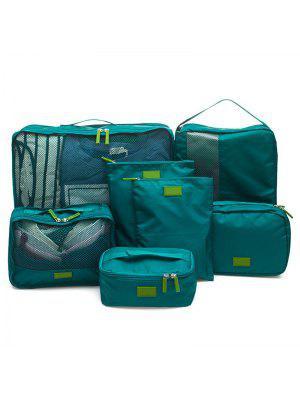 Almacenamiento de viaje impermeable 7 piezas de equipaje organizador bolsas