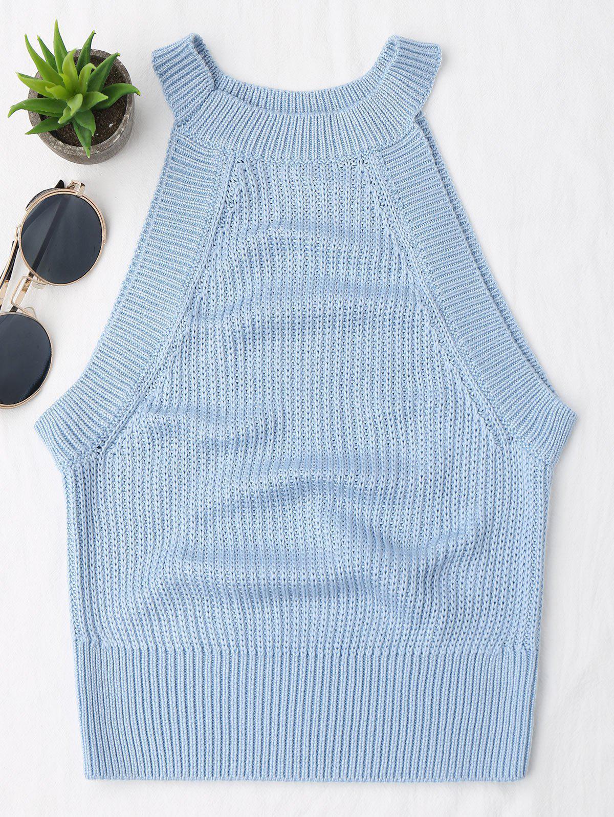 Knitting High Neck Tank Top 215668816