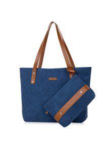 زيبر كاريال حقيبة الكتف مع محفظة السوار - أزرق