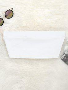 Elastic Cotton Tube Top - White S