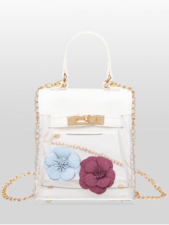 33% OFF  2019 Mini Flower Crossbody Clear Handbag In WHITE  54d59f0942931
