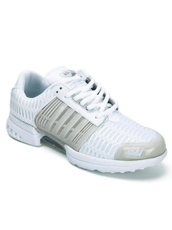 cheap sale deals outlet popular Mesh Faux Leather Insert Breathable Athletic Shoes - White 41 outlet wholesale price 0mimFYPq8W