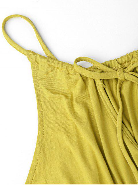trendy Tassel Cover Up Dolphin Romper - BLUISH YELLOW XL Mobile