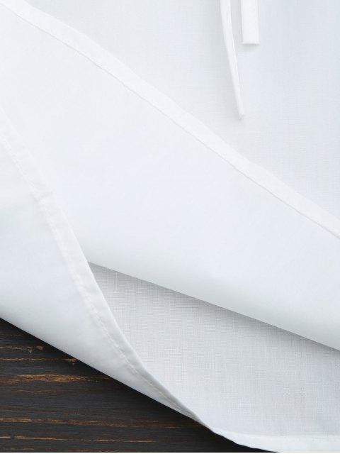Top bordé à épaules dénudées à volants - Blanc L Mobile