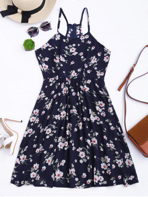 sale Cami Tiny Floral Smock Dress - PURPLISH BLUE S Mobile