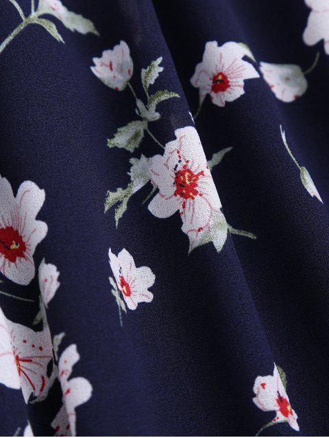sale Cami Tiny Floral Smock Dress - PURPLISH BLUE S Mobile