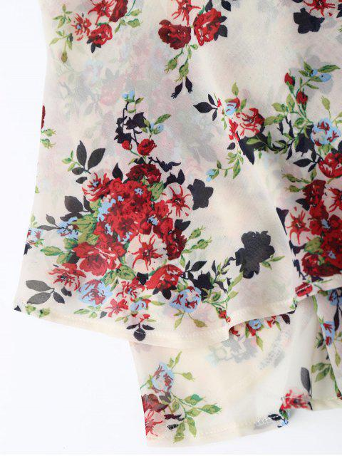 shop Floral Print Tiered Cami Top - FLORAL ONE SIZE Mobile