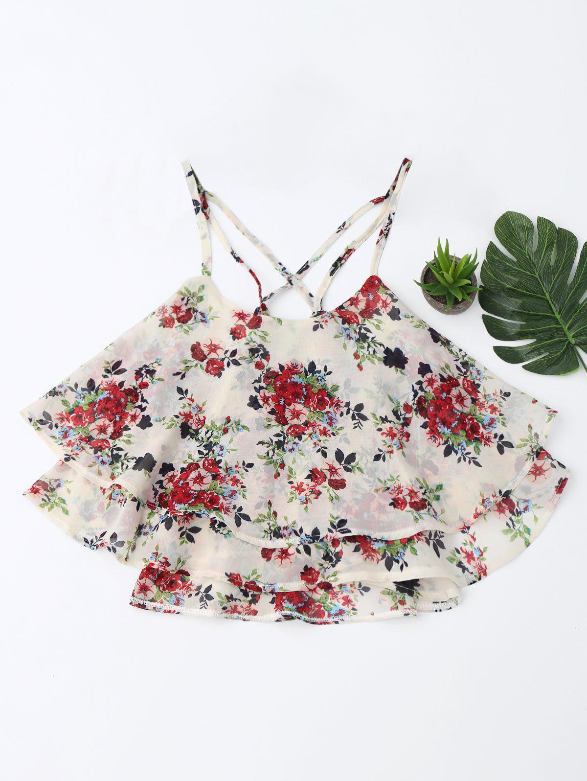 Cami Top Plusieurs Couches Imprimé Floral