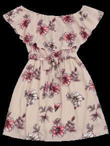 Con De Vestido Mini Fuera Cintur L Flores Del Hombro Rosado 243;n CwTYIxdqYc