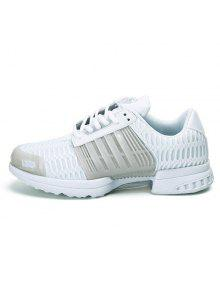 collections sale online 2014 online Mesh Faux Leather Insert Breathable Athletic Shoes - White 41 cheap sale how much cheap sale eastbay free shipping choice 3Ivnvk