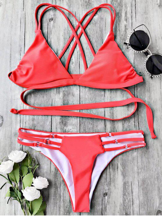 Strappy Wrap Bikini Top y partes inferiores - Lago S