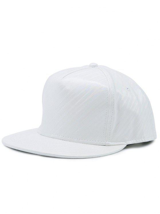 Flat Brim Reflektierende gestreifte Baseballmütze - Weiß