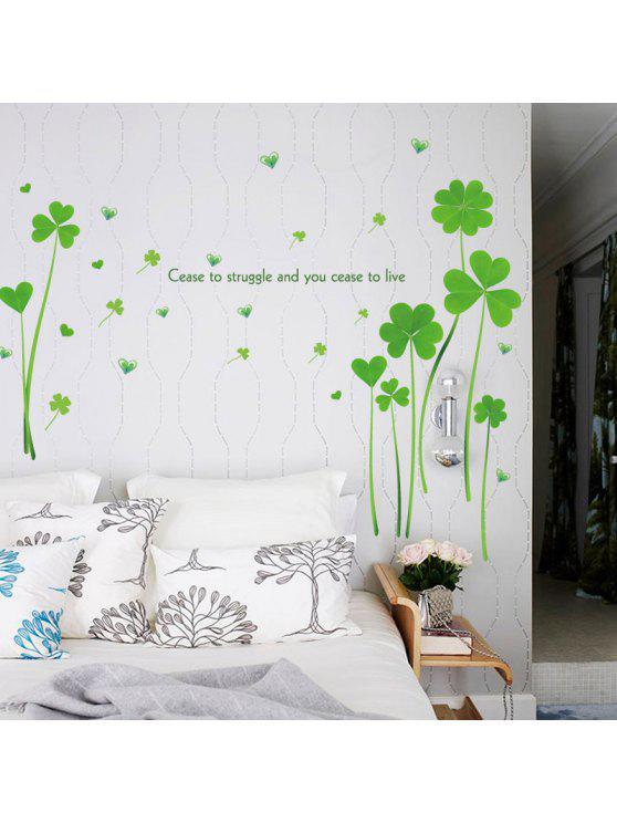 البرسيم القلب اقتباسات ملهمة الفينيل الجدار ملصق - أخضر 60 * 90CM