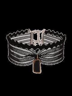 Collier De Garniture En Dentelle Vintage - Noir