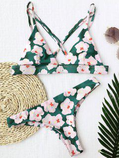 Floral Padded Cross Back Bikini - Floral S
