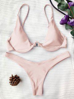 Push Up Plunge Badeanzug - Rosa M