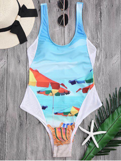 maillot de bain à taille haute imprimé à motifs - Pers L Mobile
