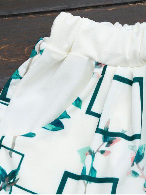 Ensemble de shorts en haut et en poche pour feuilles - Blanc L Mobile