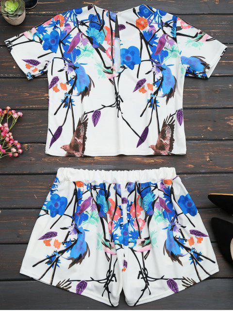Ensemble de shorts taille et haute taille imprimés - Multi S Mobile
