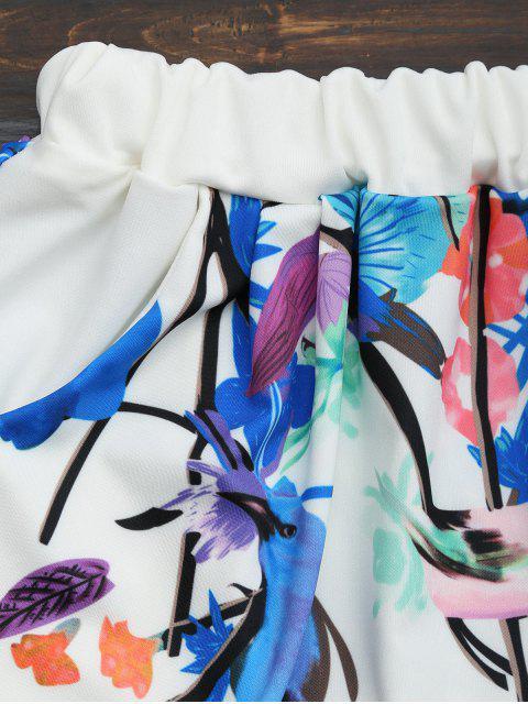 Ensemble de shorts taille et haute taille imprimés - Multi 2XL Mobile