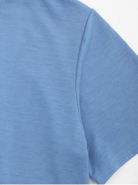 T-shirt à encolure arrondie - Bleu clair S Mobile