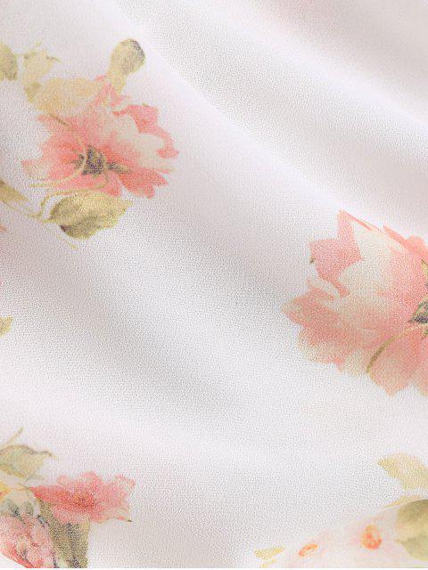 Top en toile à manches de cloches à motif floral - Floral M Mobile