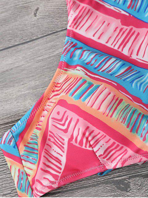 shops High Neck Bikini Top and Tieside Bottoms - MULTICOLOR M Mobile