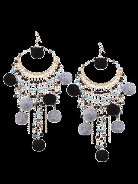 Boucles d'oreilles à perles Fingues - Noir  Mobile
