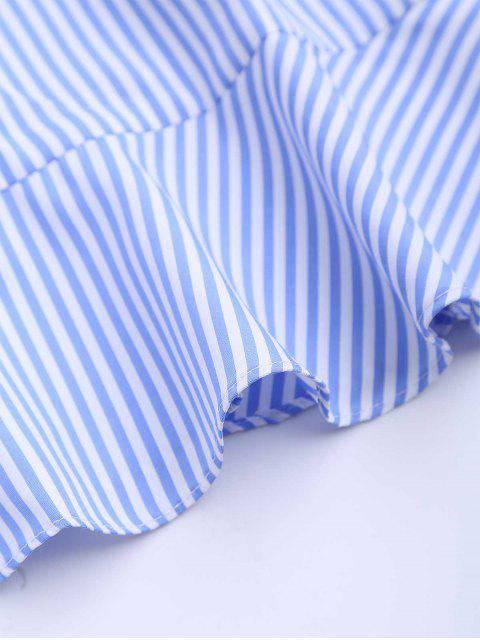 Robe rayée à volants avec ceinture - Rayure S Mobile