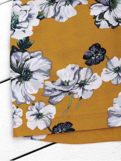 Ruffles florales hors épaule Romper - Floral L Mobile