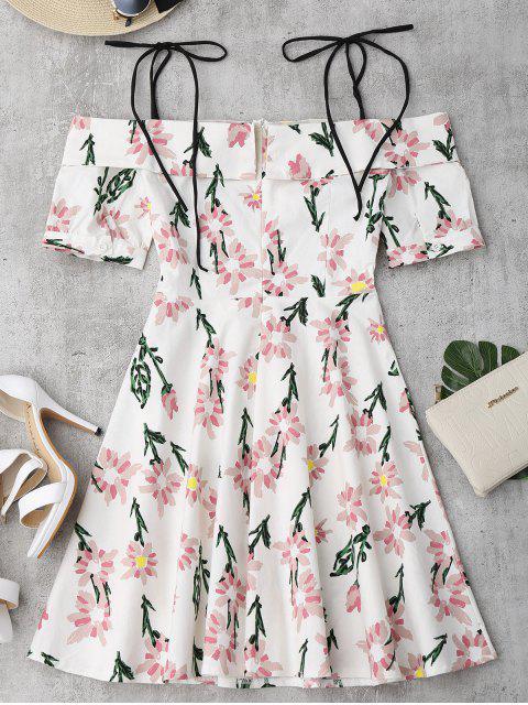 Cami Robe Imprimé à Fleurs Ourlet à Vloants - Floral L Mobile