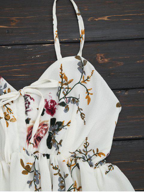 Ensemble de deux pièces à bretelle imprimé fleur à volants - Floral M Mobile