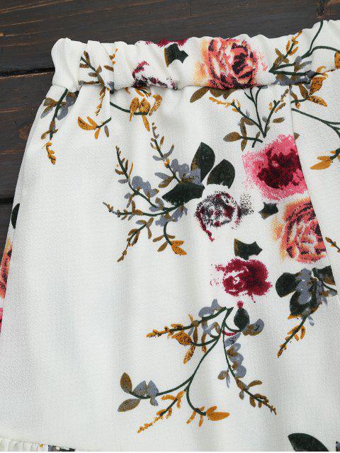 Ensemble de deux pièces à bretelle imprimé fleur à volants - Floral L Mobile