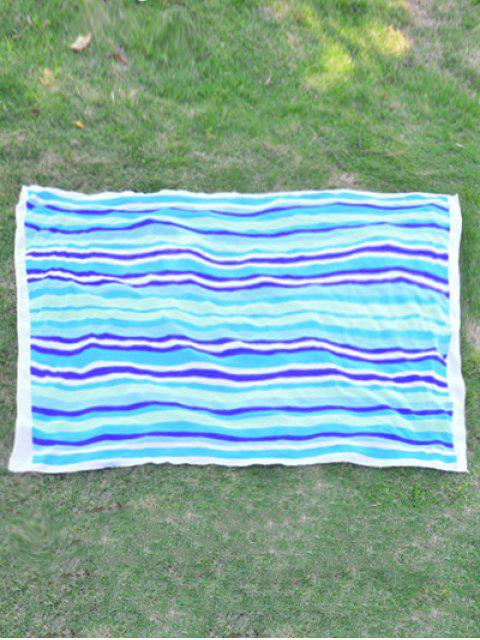 Rectangle Chiffon Striped Beach Throw - Pers  Mobile