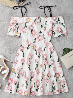 Floral Print Ruffle Hem Cami Dress - Floral M