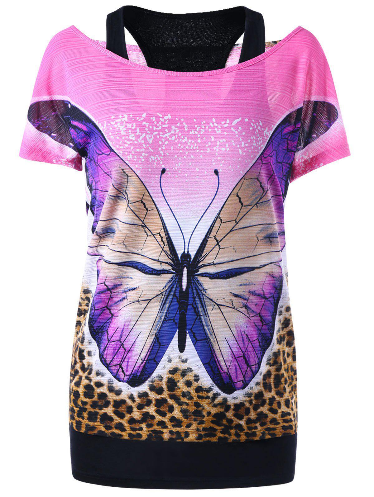 T-shirt à débardeur Racerback et papillon