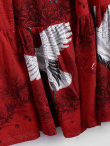 L Rojo 225;fico Hombro 237;o Ruffles Gr Fr Vestido Gris De BnOz4qxw