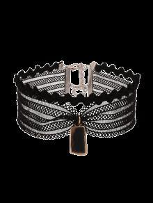 Vintage Mesh Lace Choker Necklace - Black
