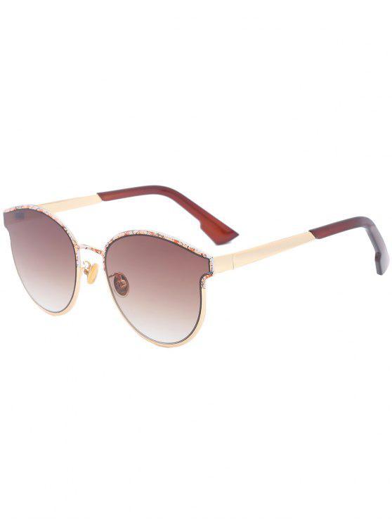 Mariposa mariposa marco empalmados gafas de sol - Té