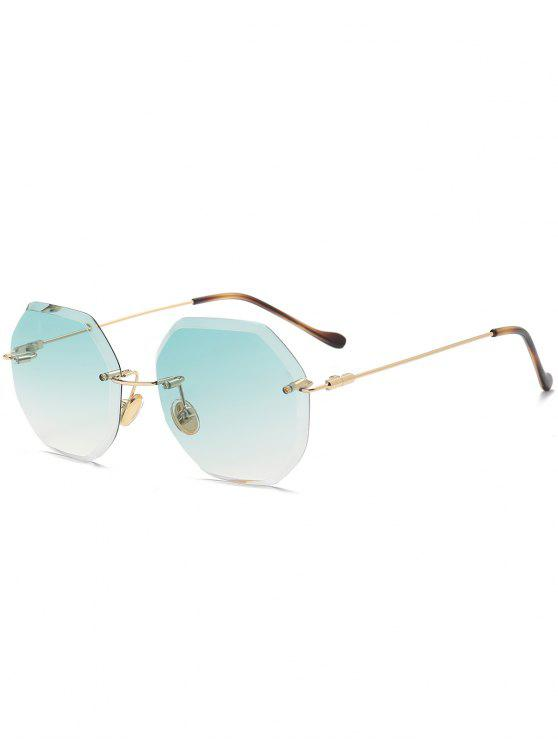 Ombre Geometric Rimless Sunglasses - Verde